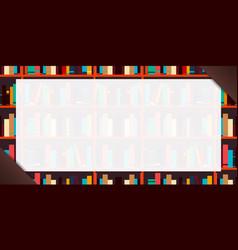 banner book shelf or bookcase background vector image