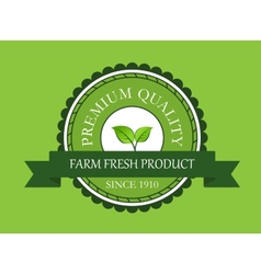 Farm fresh product label vector image