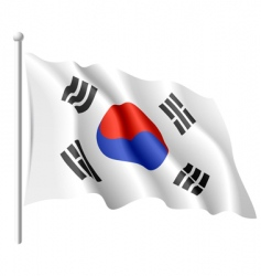 flag of south korea vector image
