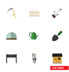 flat icon dacha set of cutter grass-cutter vector image vector image