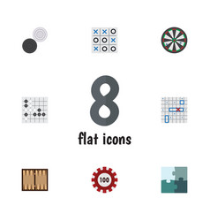 Flat icon play set of arrow xo poker and other vector
