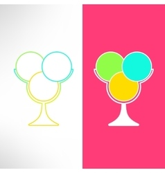 ice cream cup in modern flat design Bright vector image vector image