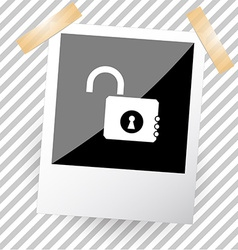 opened lock vector image