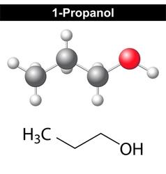 Propanol - 1-propanol molecule vector