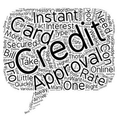 Pros and cons of instant approval credit cards vector