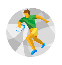Rugby player with abstract patterns vector