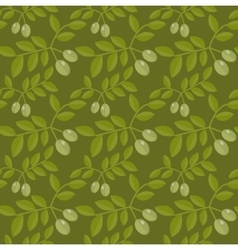 Seamless pattern Green olives Olive endless vector image vector image