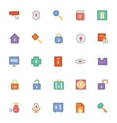 Security colored icons 1 vector