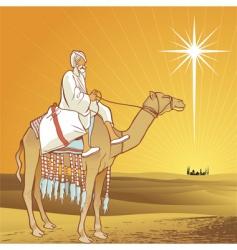 shining star of Bethlehem vector image
