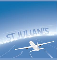St julians flight destination vector