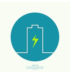The battery icon vector