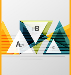 triangles and geometric shapes abstract background vector image