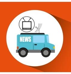 Tv news car antenna design vector