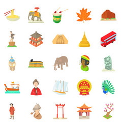 World habits icons set cartoon style vector