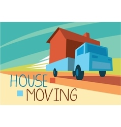House moving concept vector image