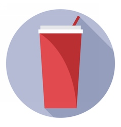 Digital red plastic soda drink can vector