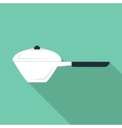 Small pan icon flat style vector image