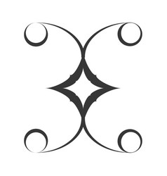 Decorate ornate style swirl vector