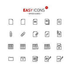 Easy icons 13a docs vector