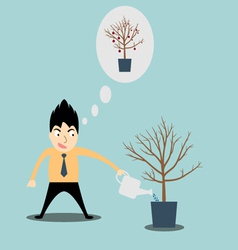Businessman investation watering vector