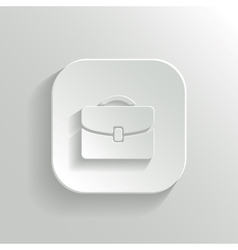Briefcase icon - white app button vector