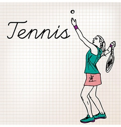 Tennis players sketch vector