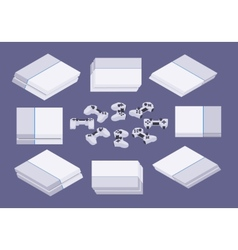 Isometric white nextgen gaming console vector