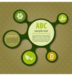 Modern green ecology design vector
