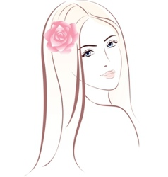 woman face female portrait vector image