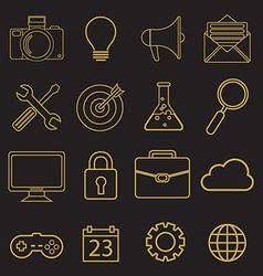 Set of linear icons in trendy style - tools and vector