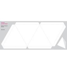 Template pyramid shaped vector image