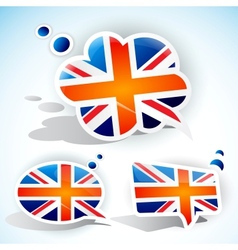 United kingdom speech bubble vector