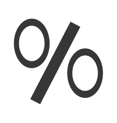 Percent or discount line icon in white and gray vector
