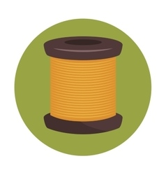 Sewing thread isolated icon design vector