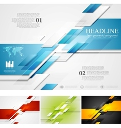 Abstract bright corporate tech background vector image vector image