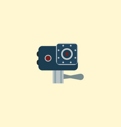 Action cam icon flat element vector