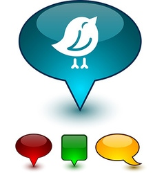 Bird speech comic icons vector