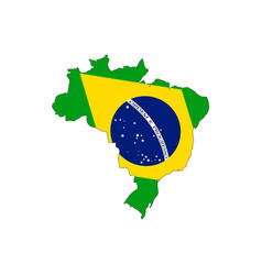 brazil map on a white background vector image