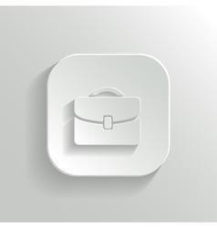 Briefcase icon - white app button vector
