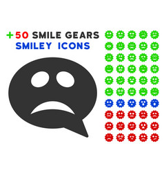Crisis smiley message icon with bonus facial vector