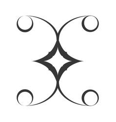 decorate ornate style swirl vector image