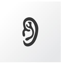 Ear icon symbol premium quality isolated listen vector