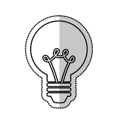 electric bulb isolated icon vector image