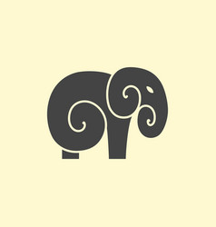 Elephant logo design vector