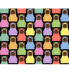 Funny colored dogs seamless background vector