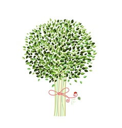 gift tree vector image vector image