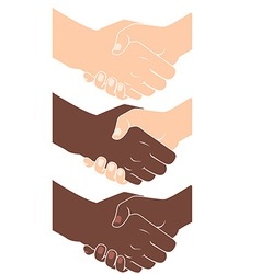 Handshake Flat style vector image