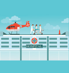 medical emergency chopper helicopter vector image vector image