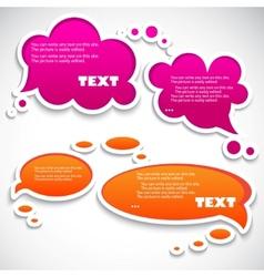paper speech bubble vector image vector image