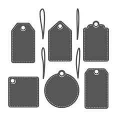 set of vintage black labels vector image vector image